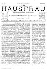 Die Hausfrau: Blätter für Haus und Wirthschaft 18791026 Seite: 1