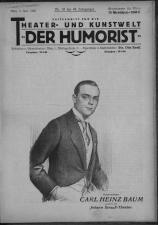 Der Humorist 19260603 Seite: 1