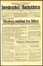 Innsbrucker Nachrichten 19380906 Seite: 1