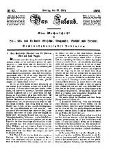 Das Inland. Eine Wochenschrift für Liv-, Esth- und Curländische Geschichte [...]