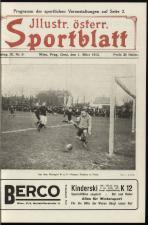 Illustriertes (Österreichisches) Sportblatt 19130301 Seite: 1