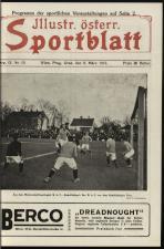 Illustriertes (Österreichisches) Sportblatt 19130308 Seite: 1