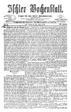 Ischler Wochenblatt 18760130 Seite: 1
