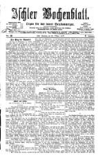 Ischler Wochenblatt 18771021 Seite: 1