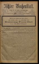 Ischler Wochenblatt 18780310 Seite: 1