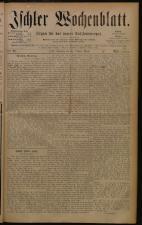 Ischler Wochenblatt 18801010 Seite: 1