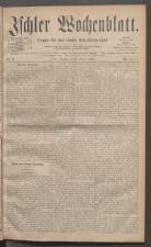 Ischler Wochenblatt 18810227 Seite: 1