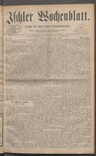 Ischler Wochenblatt 18810320 Seite: 1