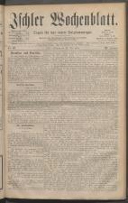 Ischler Wochenblatt 18810529 Seite: 1