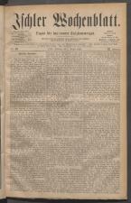 Ischler Wochenblatt 18810807 Seite: 1