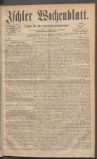 Ischler Wochenblatt 18811002 Seite: 1