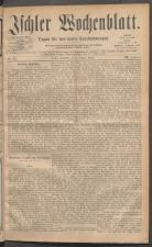 Ischler Wochenblatt 18811009 Seite: 1