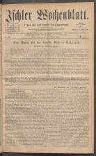 Ischler Wochenblatt 18811023 Seite: 1