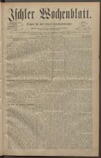 Ischler Wochenblatt 18820430 Seite: 1