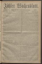 Ischler Wochenblatt 18820521 Seite: 1