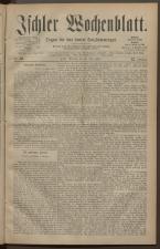 Ischler Wochenblatt 18830610 Seite: 1