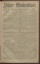 Ischler Wochenblatt 18830722 Seite: 1