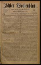 Ischler Wochenblatt 18840720 Seite: 1