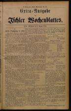 Ischler Wochenblatt 18840806 Seite: 1