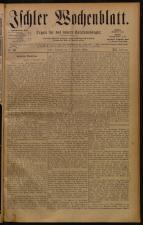 Ischler Wochenblatt 18841207 Seite: 1