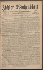Ischler Wochenblatt 18850125 Seite: 1
