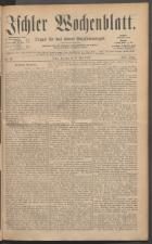 Ischler Wochenblatt 18850517 Seite: 1