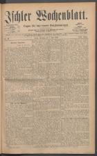Ischler Wochenblatt 18850607 Seite: 1