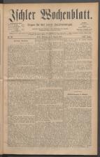 Ischler Wochenblatt 18850809 Seite: 1