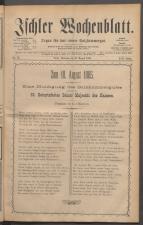 Ischler Wochenblatt 18850815 Seite: 1