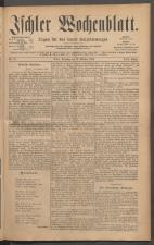 Ischler Wochenblatt 18851011 Seite: 1