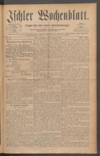 Ischler Wochenblatt 18851220 Seite: 1
