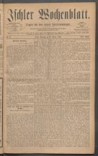Ischler Wochenblatt 18860110 Seite: 1