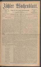 Ischler Wochenblatt 18861010 Seite: 1