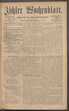 Ischler Wochenblatt 18870327 Seite: 1