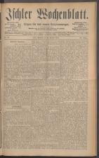 Ischler Wochenblatt 18871023 Seite: 1