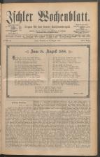 Ischler Wochenblatt 18880819 Seite: 1
