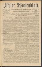 Ischler Wochenblatt 18890317 Seite: 1