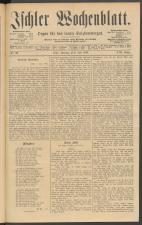 Ischler Wochenblatt 18890609 Seite: 1