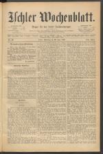 Ischler Wochenblatt 18890629 Seite: 1