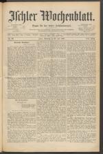 Ischler Wochenblatt 18890728 Seite: 1
