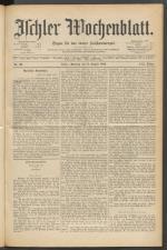 Ischler Wochenblatt 18890811 Seite: 1