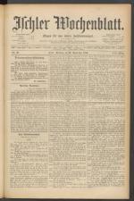 Ischler Wochenblatt 18890922 Seite: 1