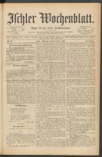 Ischler Wochenblatt 18891013 Seite: 1