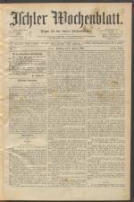 Ischler Wochenblatt 18900105 Seite: 1