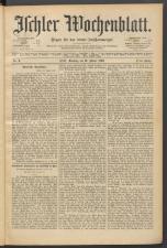 Ischler Wochenblatt 18900119 Seite: 1