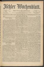 Ischler Wochenblatt 18900302 Seite: 1