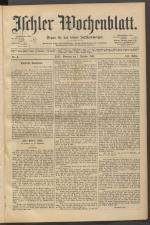 Ischler Wochenblatt 18910201 Seite: 1
