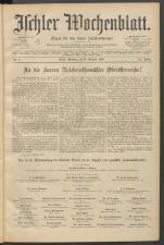 Ischler Wochenblatt 18910215 Seite: 1