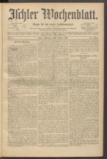 Ischler Wochenblatt 18910222 Seite: 1