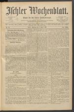Ischler Wochenblatt 18910405 Seite: 1